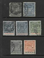 1892 Queen Victoria SG1 to SG22 Collection of 7 stamps  Fine Used RHODESIA
