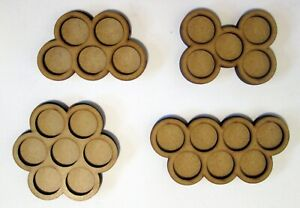 3mm MDF Movement Trays Bases Wargame Round Circle bases 20 25 30 32 35 40 50 60