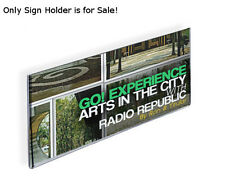 """Lots of 10 Acrylic Horizontal Wall Mount Sign Holder with Adhesive Tape 16""""wx6""""h"""
