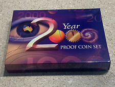 2000 PROOF SET with `COLOURED  COIN'   and  NO   RESERVE!!!