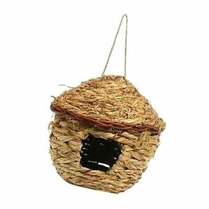 Bird Breeding Nest Box From Wild Grass Weave For Canary Finch Budgie House Pet