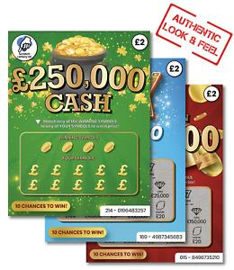 Winning Joke Scratch Card Fake Lottery Ticket Novelty Prank Xmas Gift Present
