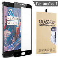 3D 9H Full Cover Curved Tempered Glass Screen Protector For Oneplus Three 3 / 3T