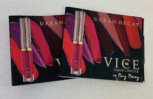 2 Urban Decay Vice Liquid Lipstick in Big Bang 0.75 ml / 0.02 fl oz