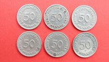 6 x 50 Pfennig 1949 D Bank deutscher Länder