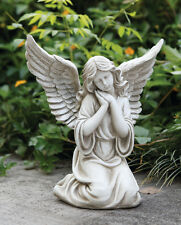 Kneeling Praying Angel Statue Garden Cemetery Memorial