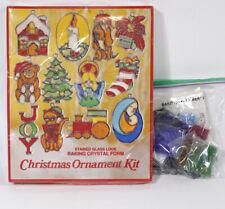 Nos Vintage Make Bake It Stained Glass Kit Lot 12 Makit Bakit Christmas Ornament