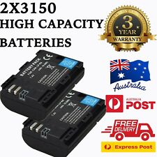 2x LP-E6 3150mAh Battery & LCD Dual Charger For Canon EOS 80D 70D 7D 60D 6D 5D .