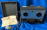 Claricon Portable Reel to Player Recorder Microphone Speaker VTG MCM Case