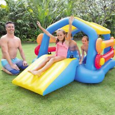 Intex Inflatable Island With Slide Removable Sides Kids Outdoor Pool Play Bouncy