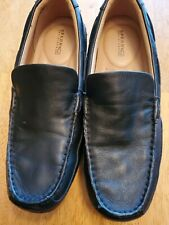 Sperry top sider mens Black Leather Driving Mocs 9 M loafers