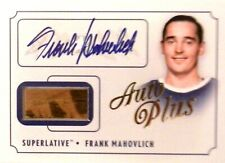 13-14 itg superlative first six gold frank mahovlich leafs stick autograph auto