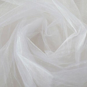 2Rolls 50Mx50CM Sheer Crystal Organza Tulle Roll Fabric for Wedding Party Decor