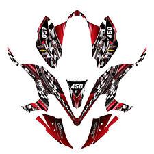 KFX 450R graphics decal kit for Kawasaki ATV #2500 RED FREE Customization