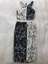 Marble V-neck Crop And Midi Skirt Set - Princess Polly Stelly Tiger Mist Showpo