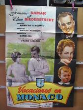 A5507  VACACIONES EN MÓNACO - GERMAINE DAMAR, CLAUS BIEDERSTAEDT, FRANK SINATRA