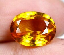 AAA Ceylon's 3.60 Ct Natural Yellow Sapphire Oval Loose Gemstone Certifed A0694