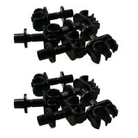 """Nylon Retaining Double Car Brake Pipe Fixing Clips For 3/16"""" + 5/16"""" Pipe 10pc"""