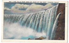 CANADA & American NIAGARA FALLS NY Postcard Vintage Seen From MAID OF THE MIST