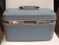 Vintage SAMSONITE Profile Light Blue Classic Train Make Up Case Luggage