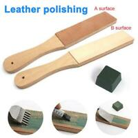 Dual Sided Compounds Leather Kit  Blade Strop Razor Sharpener Polishing Set Tool