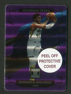 2020-21 Impeccable Donovan Mitchell Stainless Stars Purple /49 Utah Jazz