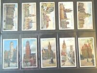 1915 Wills Belgium Architecture Tobacco cards complete 50 card set