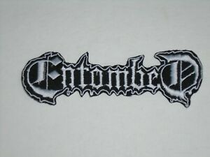 ENTOMBED DEATH METAL IRON ON EMBROIDERED PATCH