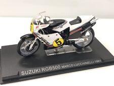 suzuki rgb500 marco lucchinelli 1981 1/24 n35 + fasci grandes motos compétition