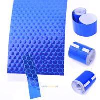 Blau Streifen Reflektierende Aufkleber Reflektor Selbstklebend für Auto 5x300cm