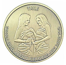 Man Humor Chicks Get Laid Heads Tails Good Luck Challenge Coin Gift for Men