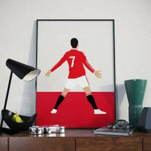 Cristiano Ronaldo  Manchester United Football Poster