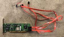 AMCC 9550SX-4LP 4-Port SATA RAID PCI-X Controller 700-0189-04 With Cables
