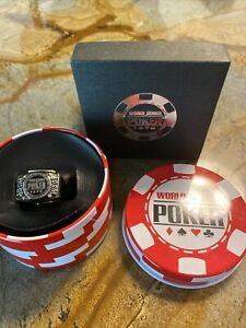 World Series of Poker Ring WSOP diamonds With  stainless steal size 7 NEW Triton
