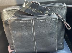 TIGNANELLO Black Leather Crossbody Handbag BRAND NWT!!!