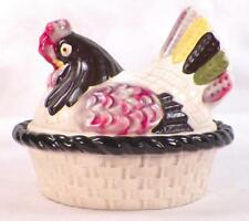 Metlox Poppytrail Red Rooster Hen on Nest Covered Dish Provincial Vernon Vintage
