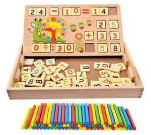 Kids Montessori Learning Numbers Building Blocks Kit Toys Puzzle Drawing Shapes