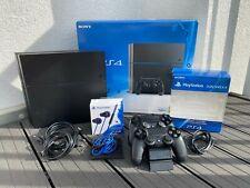 Sony PlayStation 4 500GB Schwarz + 2 Controller + Zubehörpaket