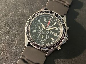 Seiko 7T92-0CF0 Quartz Flightmaster Chronograph Watch