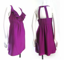 Alice and Trixie  Magenta Purple Ruffled Silk Party Dress M D716