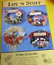 Four seasons Of Wreaths No Sew Patterns Uncut Craft booklet  By: Luv N Stuff