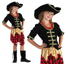 Childrens Pirate Fancy Dress Costume Buccaneer Halloween Outfit Girls Kids L