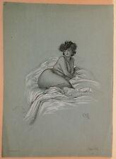 Dessin Original LUBIN DE BEAUVAIS XIXe -Emilie - Art Nouveau LB42