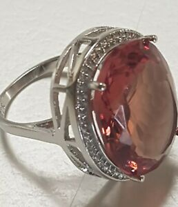 Lab Created Zultanite Oval Colour Changing Sterling Silver Ring Sz8 Ruby Amber G