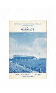 1963/64 Bedford Town v Margate Football Programme