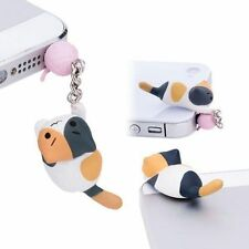 3.5 mm Anti Dust Earphone Jack Plug Cheese Cat Stopper Cap for Cell Phone