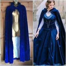 Impresionante Victoriano/Vintage Royal Blue Velvet Cape