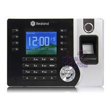 Realand Biometric Fingerprint Time Attendance Clock RFID Card Reader TCP/IP USB