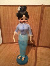 Vintage Blue Burmese Doll Unique and Rare