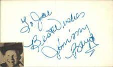 "Jimmy Boyd d. 2009 Actor Batman Signed 3"" x 5"" Index Card"